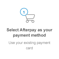 Select Afterpay as your payment method: use your existing payment card