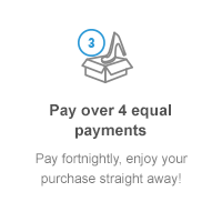 Pay over 4 equal payments: pay fortnightly, enjoy your purchase straight away