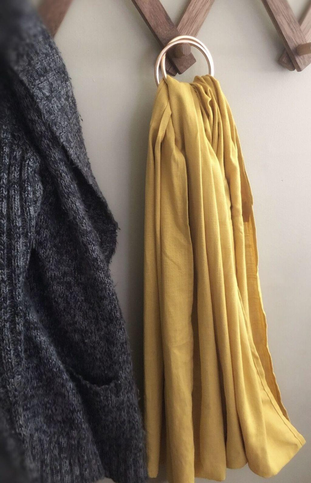 c460e8b336a Mustard Linen Ring Sling    Ankalia Textiles